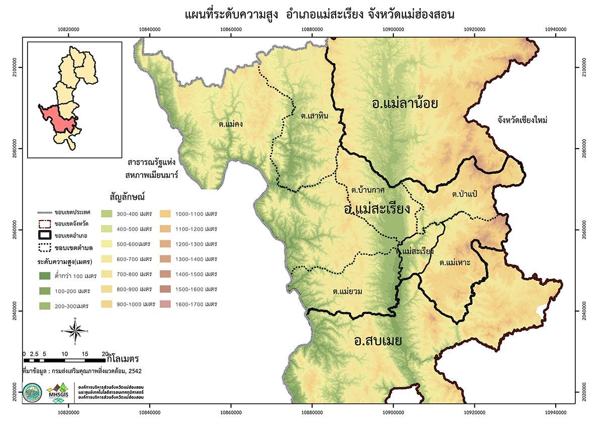 Mae Hong Son loop map mountain slopes Mae Hong Son Loop