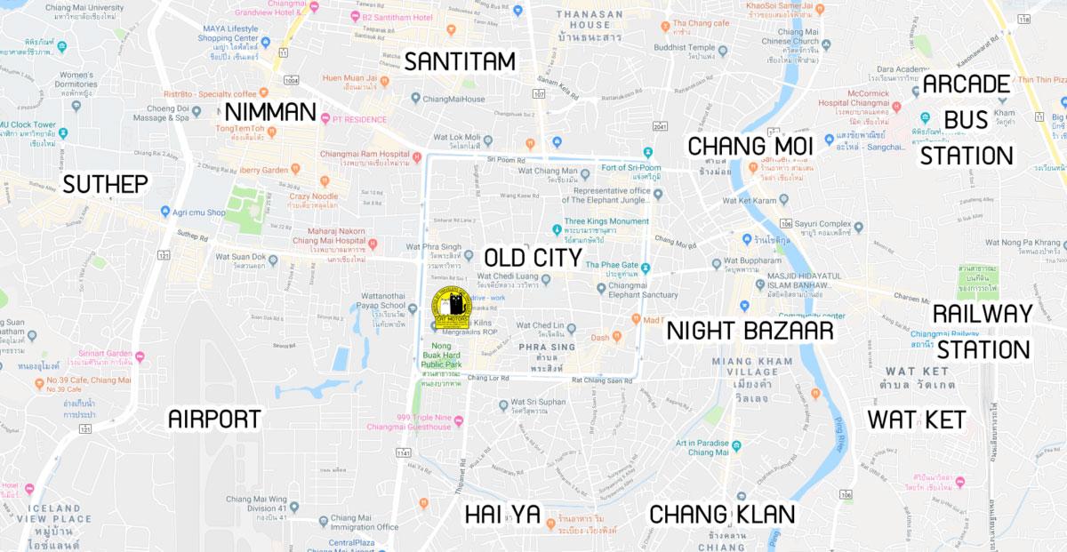 chiang mai google map