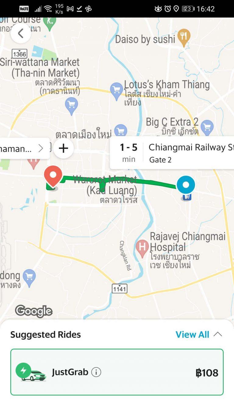 grab taxi railway
